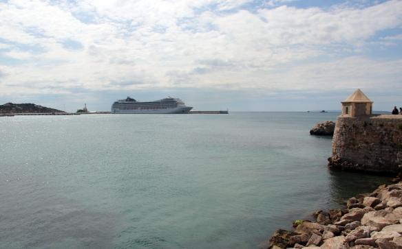 Cruise ship at a distance ibiza 2