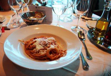 Cruise ship pasta dish