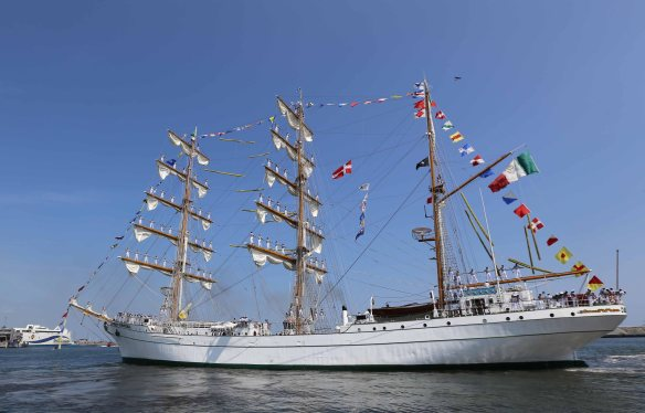 Tall ship from Mexico in Port of Aarhus
