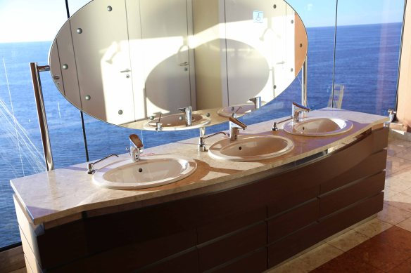 At sea bathroom