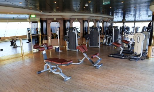 At sea fitness centre
