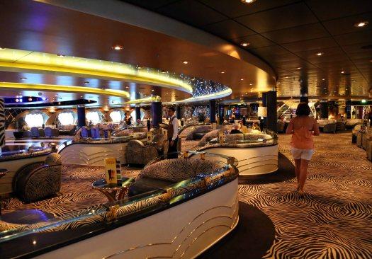 Baltic cruise ship zebra bar