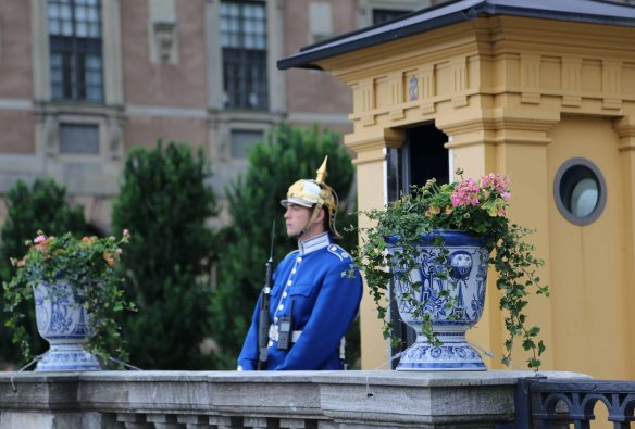 Baltic cruise stockholm palace guard
