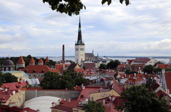Vanalinn Tallinn Estonia Rooftop view