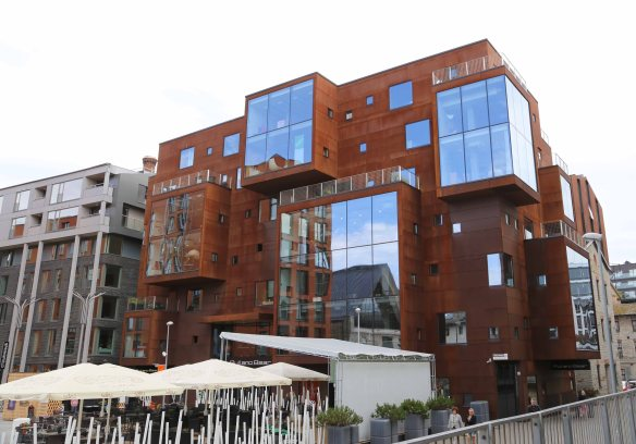 Modern building architecture Tallinn Estonia