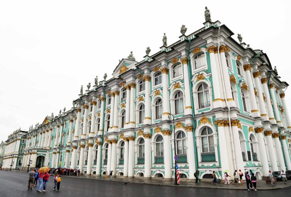Winter Palace and Hermitage Museum three million works of art St Petersburg
