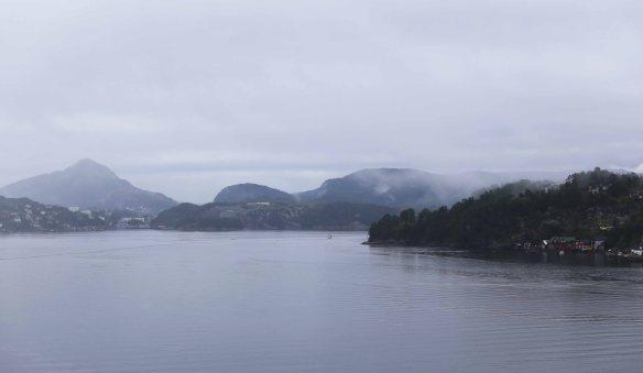 Norge MS S F sejlads i gråvejr