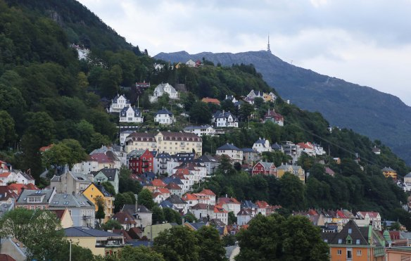 Bergen and Ulriken at a distance Photo: Marina Aagaard