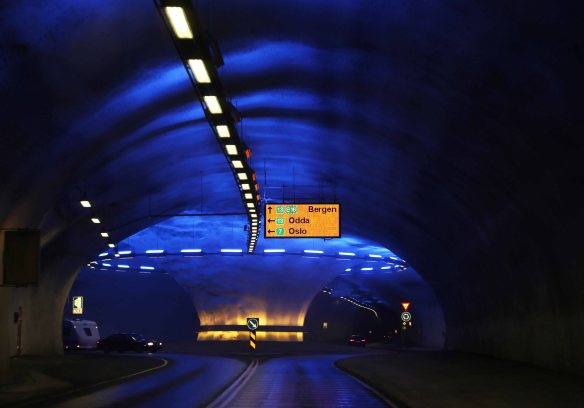 Norway tunnel roundabout photo: Marina Aagaard