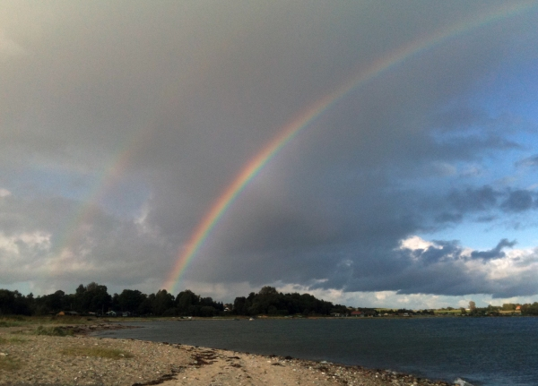 Double Rainbow by the beach snapshot Marina Aagaard