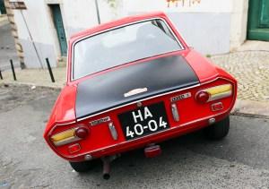 Lisboa Car Lancia Fulvia 3 red