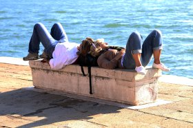 Relaxing in Venice photo Marina Aagaard