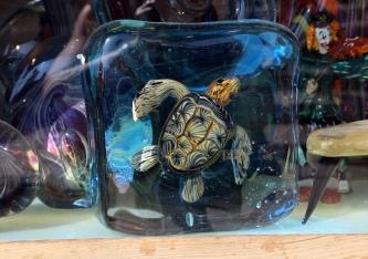 Venedig glas skildpadde