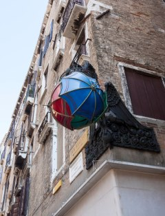 Venedig lampe farvet