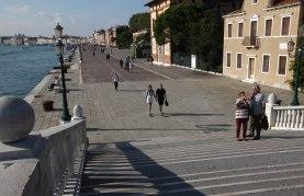 Venedig promenade trappe par