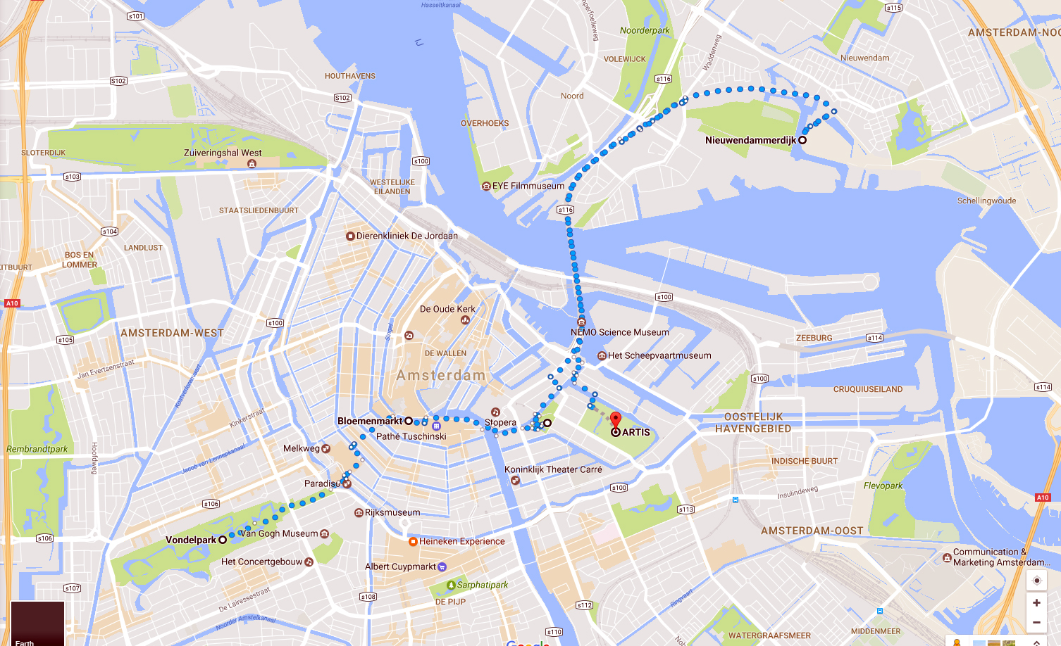 City Walk in 36000 Steps Amsterdam Sneaker Sightseeing fitness